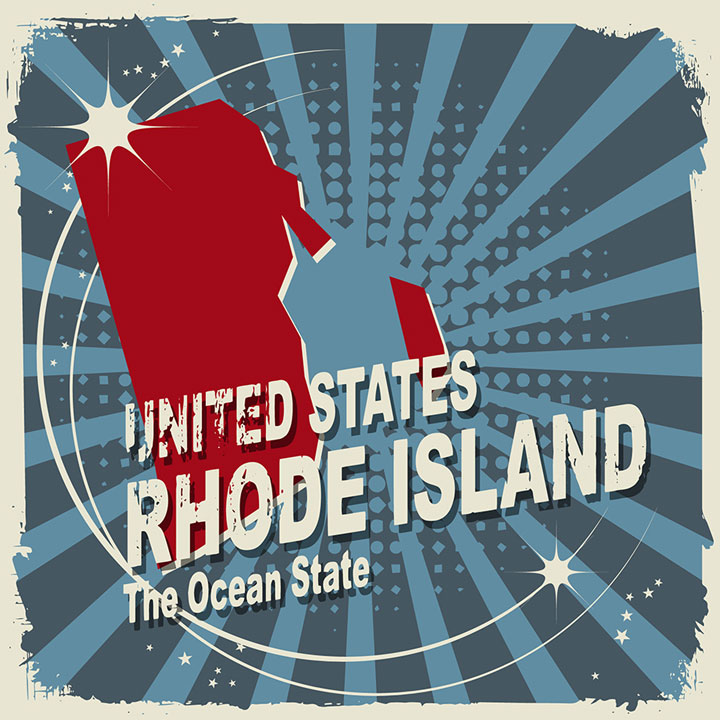 abstract rhode island map