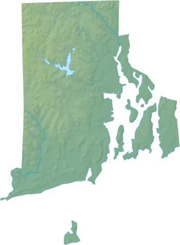 Rhode Island relief map